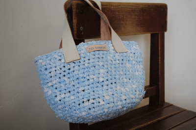 裂き編み:空色