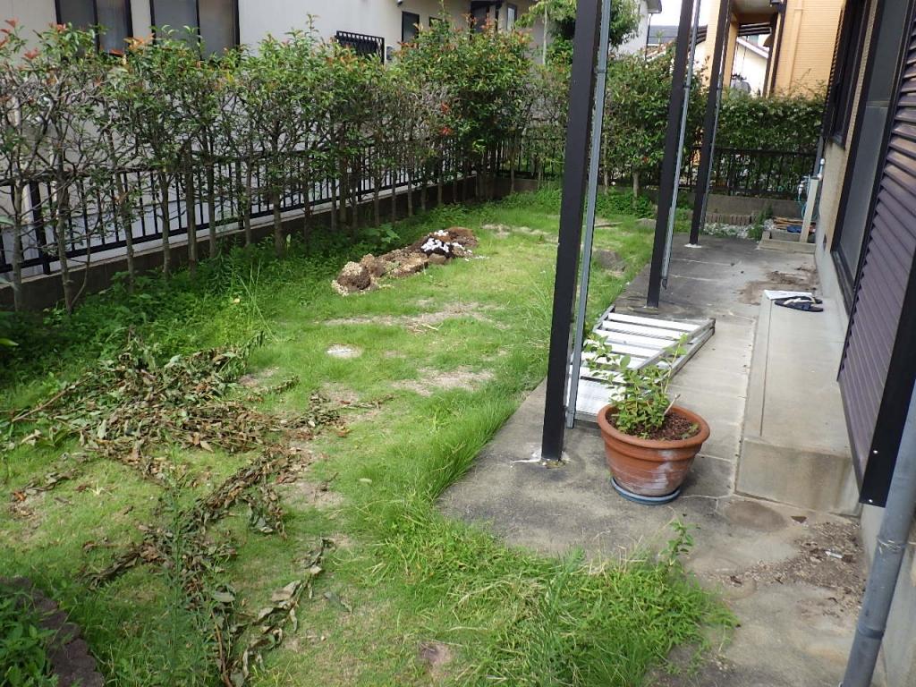 一般家庭の雑草対策工事
