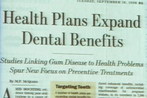 口腔衛生・予防歯科推進 ウォールストリートジャーナル