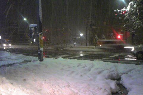 雪国のベタ雪