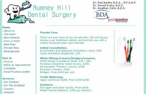 イギリスの歯科治療費