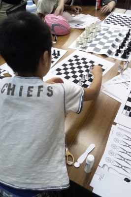 第6回こども土曜寺子屋「ペーパークラフトでチェスをつくろう ...