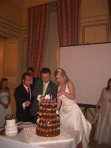 大きなケーキ。