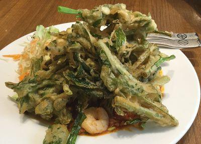 真空菜の天ぷら