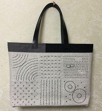 刺し子のバッグ1