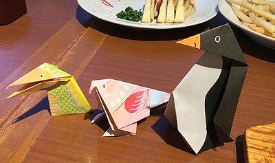 孫が折った折り紙