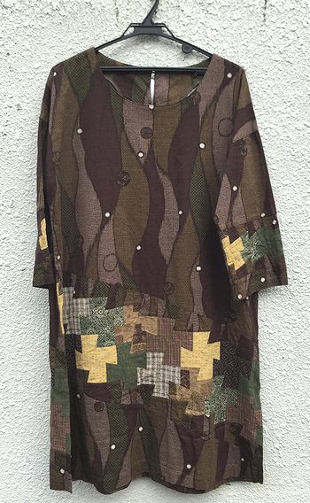 パッチワークの洋服2