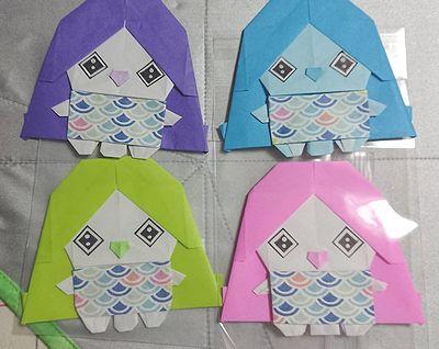 折り紙アマビエ1