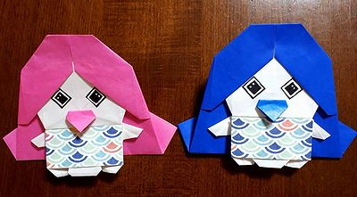 折り紙アマビエ4