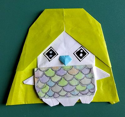 折り紙アマビエ5