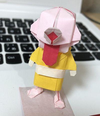 折り紙一つ目小僧