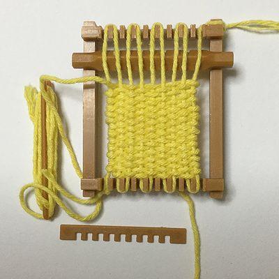 ガチャガチャの機織り機2