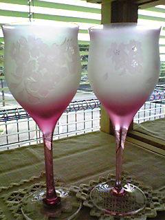 桜ワイングラス
