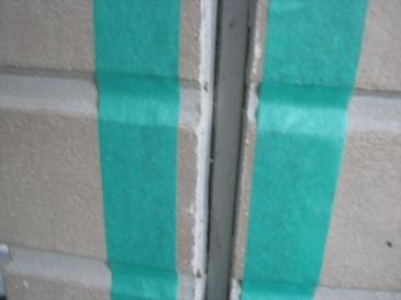 鶴ヶ島市 築17年26坪:マスキングテープの貼り付け