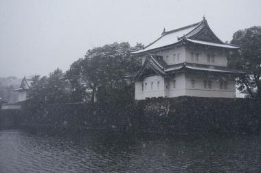 雪の江戸城