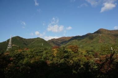 鬼怒川温泉 ホテルから見た紅葉