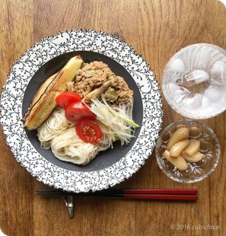 肉味噌とお素麺