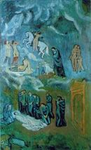 Evocation (Lenterrement de Casagemas) by Pablo Picasso (1901)
