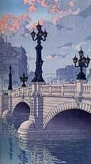 「東海道風景選集」より 日本橋(夜明) 川瀬巴水 1940年
