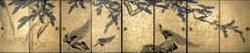 大乗寺  松に孔雀図襖絵