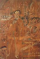 「アンドレ・サルモンとモンマルトル Andre Salmon and Montmartre 」1921年作