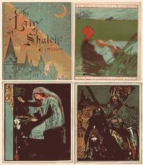 アルフレッド・テニスン 「シャロットの姫君」 ハワード・パイル挿絵 1881年