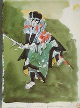 Copie d'apres un aibum japonais 「Acters de Kabuki」1869年 歌舞伎役者 ギュスターヴ・モロー美術館所蔵