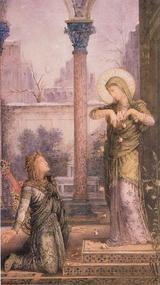 Gustave Moreau 「La Poete et la Seinte」1868年 詩人と聖女