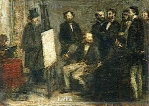 Fantin-Latour Ignace Henri Jean Théodore - LAtelier aux Batignolles, esquisse.