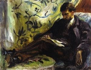 Portrait of Edmond Maitre aka The Reader - (Pierre Auguste Renoir - 1871)