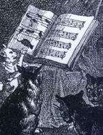 「Music of cats」1868年