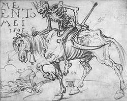 Death Riding Albrecht Durer. 1505 The British Museum