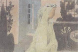 La vie devient precieuse, discrete  MAURICE DENIS by Amour. 1892-99