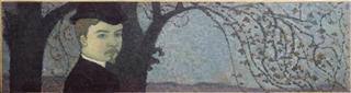 Maurice Denis, Portrait de _artiste sous les arbres, vers 1891, Collection particulière - (c) ADAGP, Paris 2006