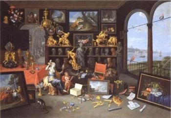 Jan van Kessel d.Ä.: Kunstkammer mit Venus bei der Toilette, 1679