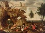 Cornelis van Dalem Felslandschaft mit biblischer Staffage