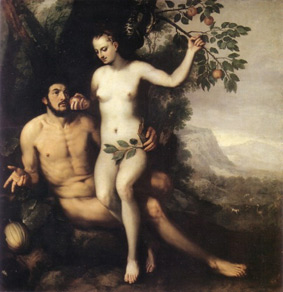 Frans Floris(ca. 1519-1570) Adam and Eve