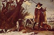 Jan Wildens, Winter Landscape with Hunter, 1624.