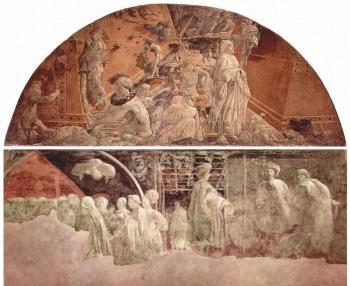 Museo di santa maria novella, chiostro verde affreschi di paolo uccello