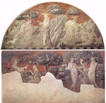 Creazione degli animali, Creazione di Adamo, Creazione di Eva e Peccato originale, Paolo Uccello
