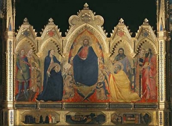 Christ as Redeemer with Our Lady and Saints by Andrea Orcagna