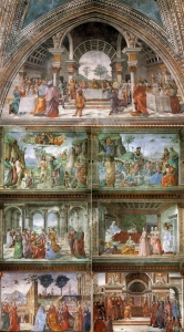 Frescoes on the right wall: Stories of St John the Baptist