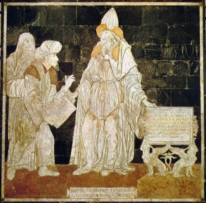 Hermes Trismegistus, floor mosaic in the Cathedral of Siena
