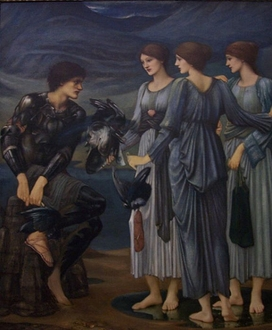 3.Perseus and the Sea Nymphs completed work in oil at Staatsgalerie