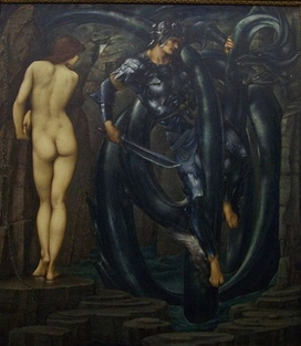 8.The Doom Fulfilled, completed work in oil at Staatsgalerie, Stuttgart