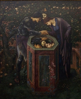 9,The Baleful Head, completed work in oil at Staatsgalerie, Stuttgart