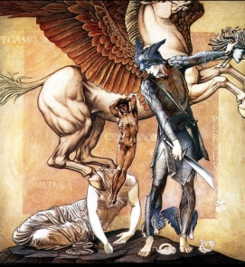 The Birth of Pegasus and Chrysaor, full size study in Southampton Art Gallery