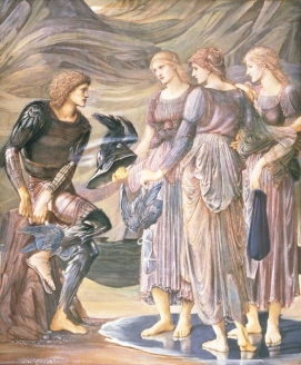 The Arming of Perseus or Perseus and the Nereids (Sea Nymphs), study in Southampton Art Gallery