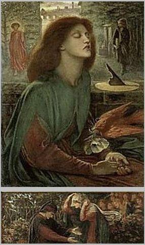 Beata Beatrix, 1872 by Dante Gabriel Rossetti, The Art Institute of Chicago