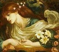 「The Blessed Damozel」by Dante Gabriel Rossetti Fogg Art Museum, Harvard, USA